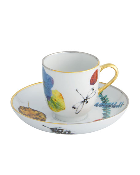 Christian Lacroix Caribe Espresso/Coffee Cups & Saucers, Set