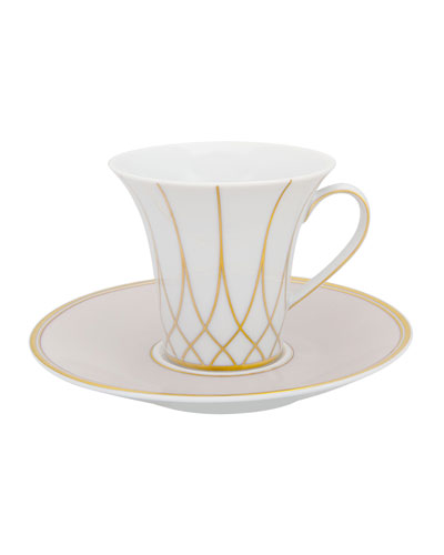Terrace Espresso/Coffee Cups & Saucers  Set of 4