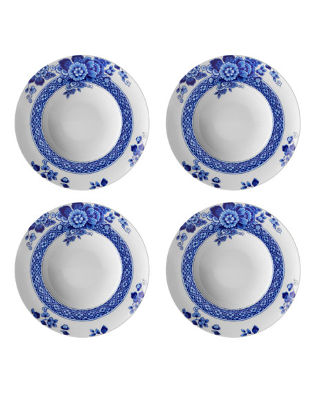 Blue Ming Soup Plates, Set of Four