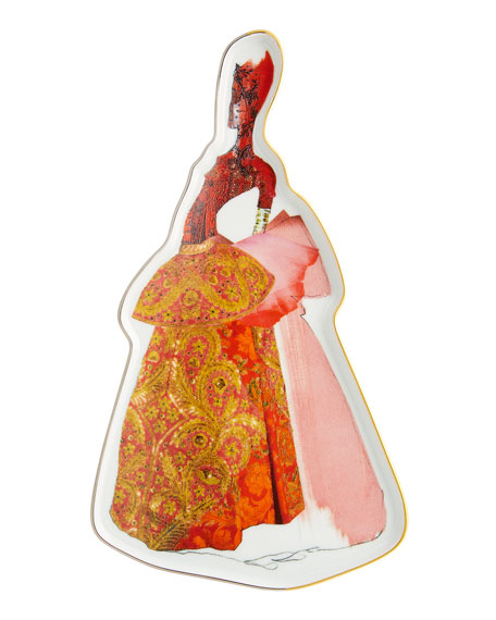 Christian Lacroix Madones Red Byzantine Tray