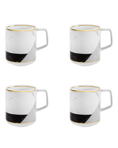 Carrara Coffee Mugs, Set Of 4
