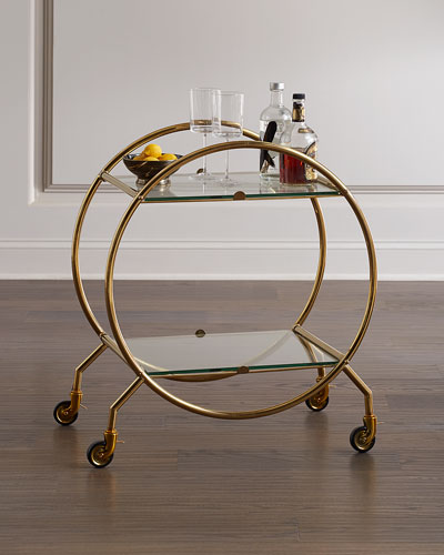 Whiskey Circular Bar Cart