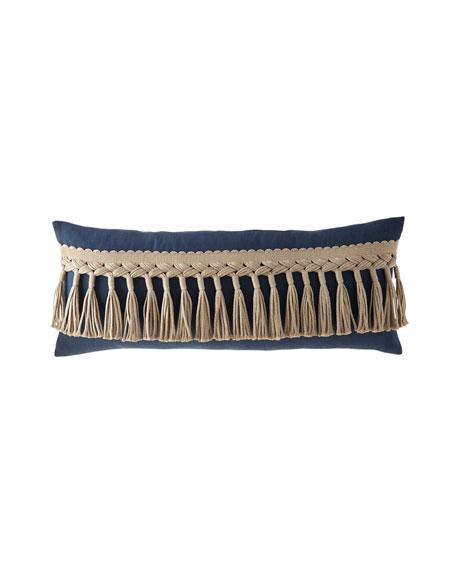 "Tuscany Cleo Tassel-Trim Decorative Pillow, 15"" x 36"""