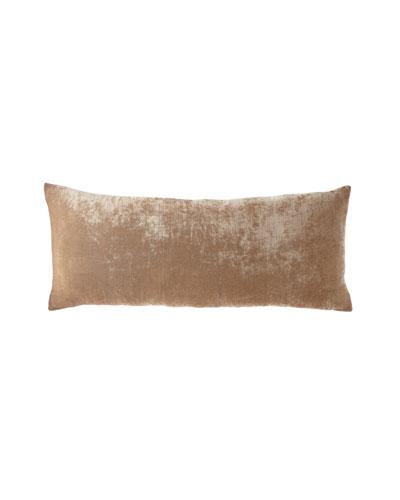 Silk-Blend Velvet Decorative Pillow  15 x 36