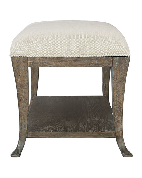 Rustic Patina Upholstered Bench