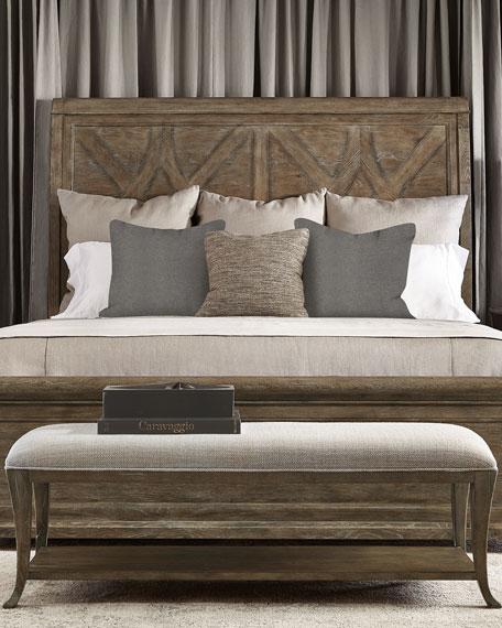 Rustic Patina Fancy Panel Bed - California King