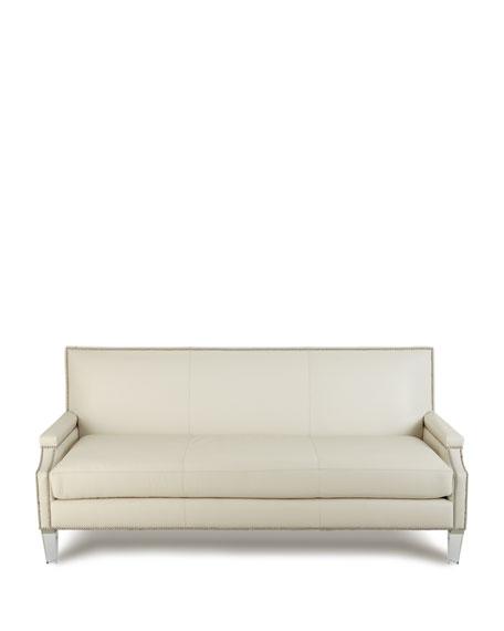 """Cannon Leather Sofa, 82"""""""