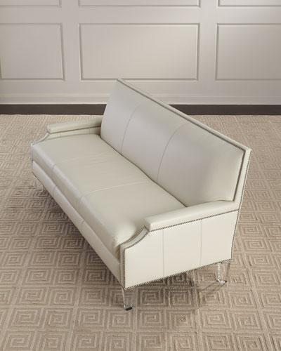 Cannon Leather Sofa  82