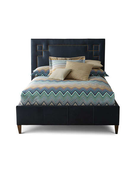 Christopher Leather King Bed