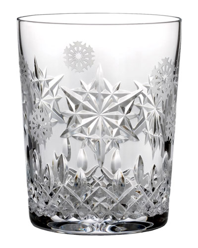 Snowflake Wishes Joy Double Old-Fashioned Glass