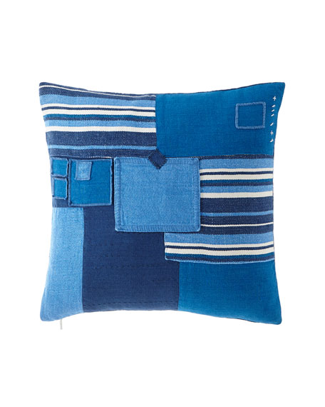 "Stover Patchwork Pillow, 16"" x 24"""
