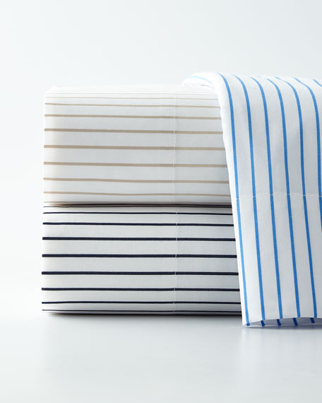 Prescot Stripe Queen Flat Sheet