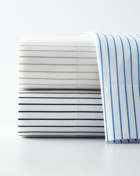 Prescot Stripe Twin Flat Sheet