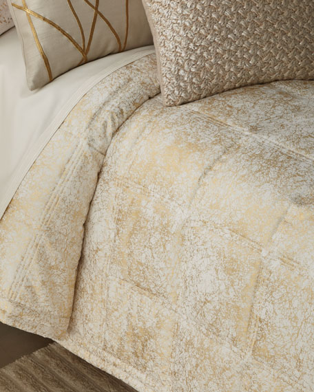 Metallic Textured King Coverlet