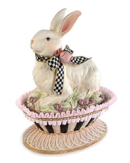 MacKenzie-Childs Macaron Bunny Basket with Lid