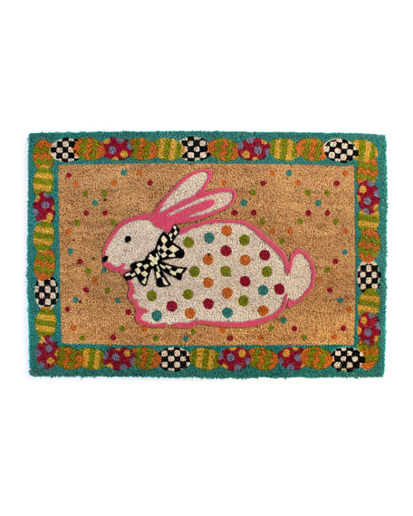 MacKenzie-Childs Dotty Bunny Entrance Mat