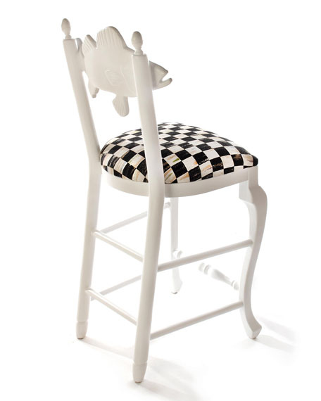 Outdoor Courtly Check Fish Bar Stool