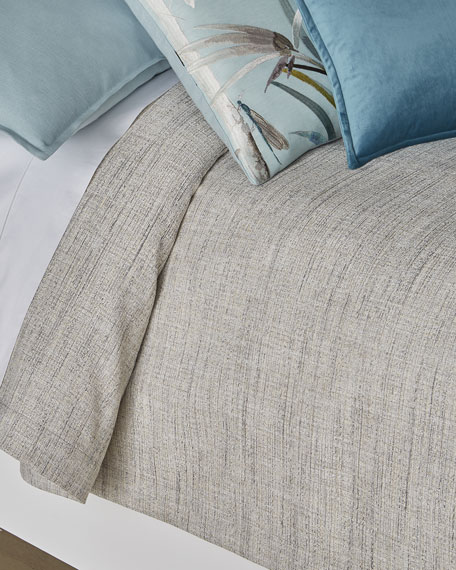 Fino Lino Linen & Lace Birch King Coverlet