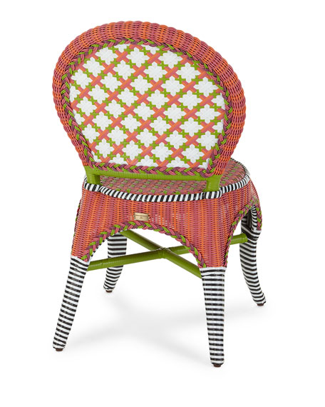 Breezy Poppy Outdoor Cafe Chair