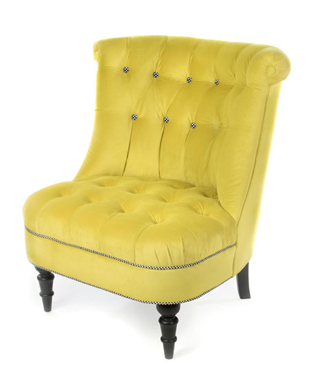 MacKenzie-Childs Farmhouse Green Grape Accent Chair