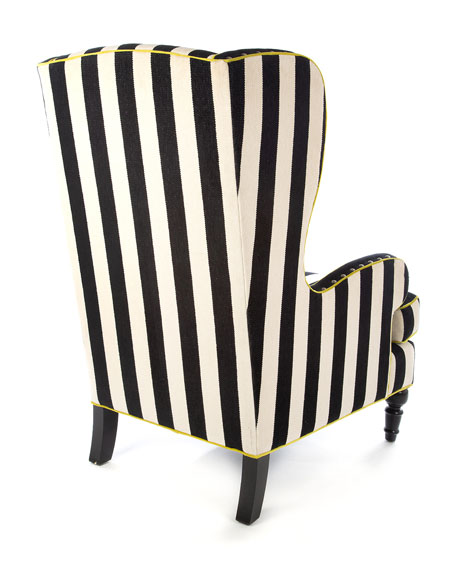 Marquee Chenille Stripe Wing Chair