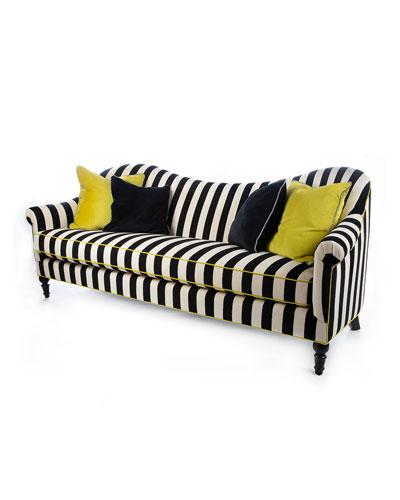 Marquee Chenille Stripe Sofa