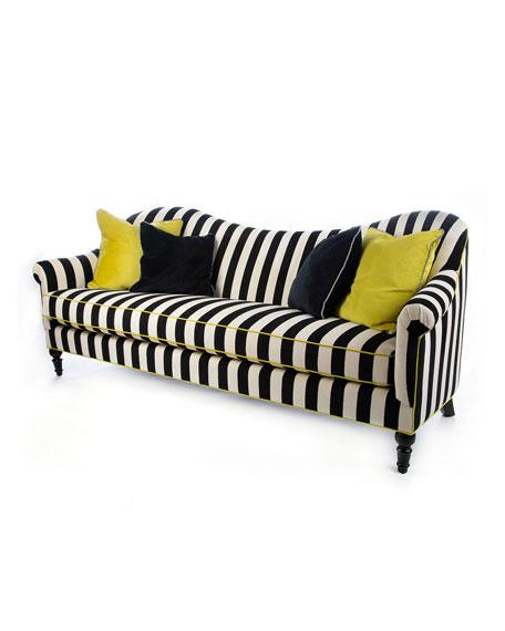 MacKenzie-Childs Marquee Chenille Stripe Sofa