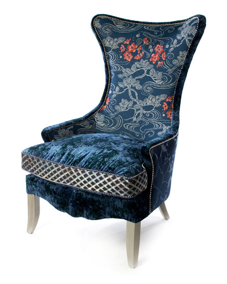 MacKenzie-Childs Bluetopia Wing Chair
