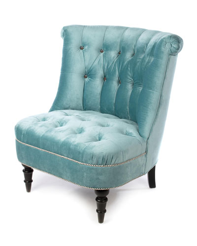 Farmhouse Mint Accent Chair