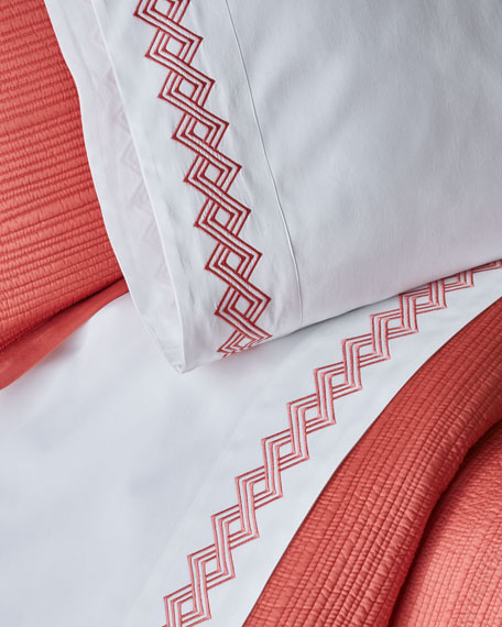 Amalfi  Queen Embroidered Sheet Set