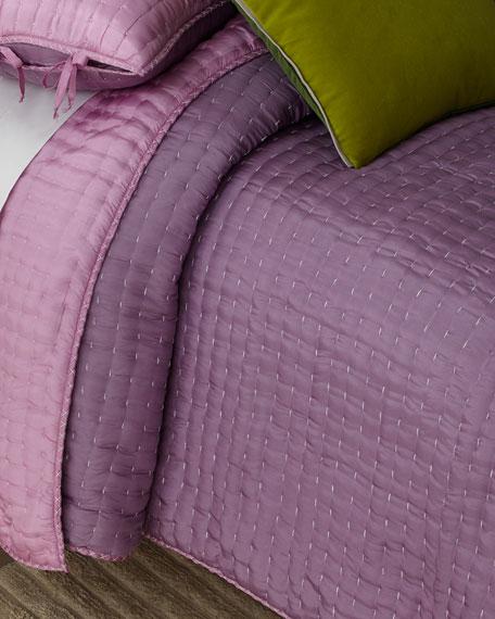 Designers Guild Chenevard Damson Magenta Standard Quilt