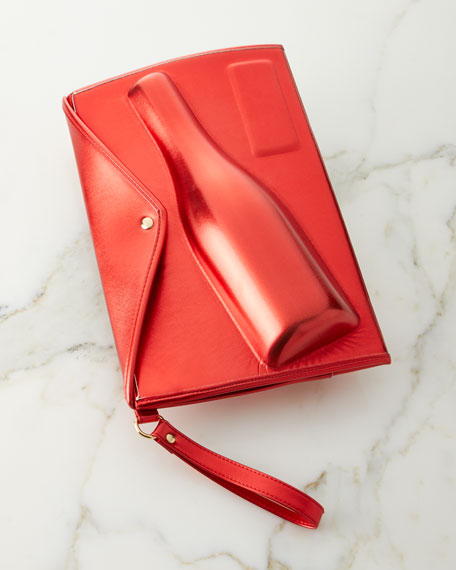 8 Oak Lane Large Red Champagne Clutch
