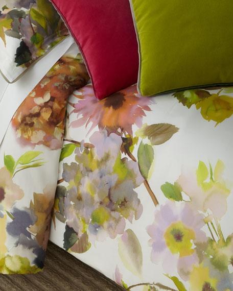 Designers Guild Palace Flower Birch Queen Duvet Cover