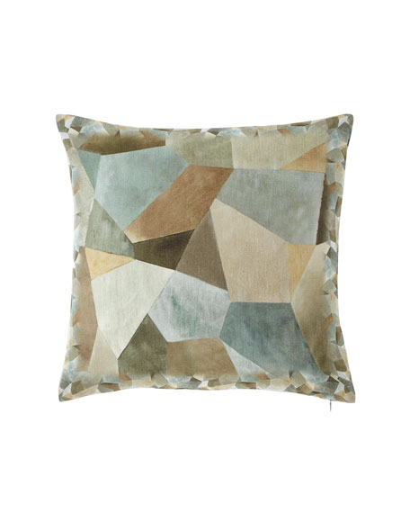 Geo Moderne Pewter Pillow