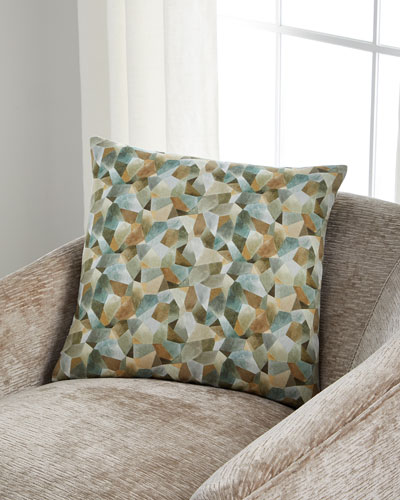 Geo Moderne Pewter Pillow