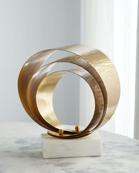 3 Fold Etched Brass Sculpture