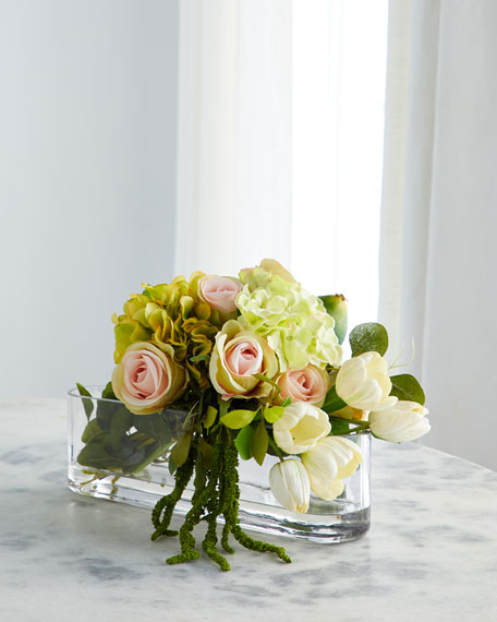John-Richard Collection Fallen Roses Arrangement