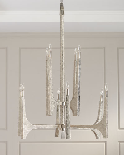 The Arc Textured 10-Light Chandelier