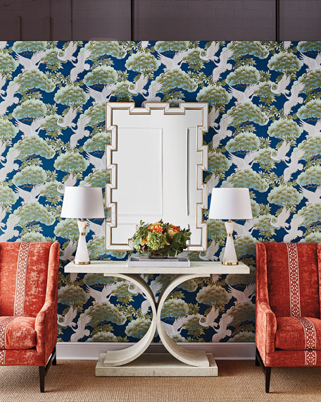 Sprig & Heron Wallpaper