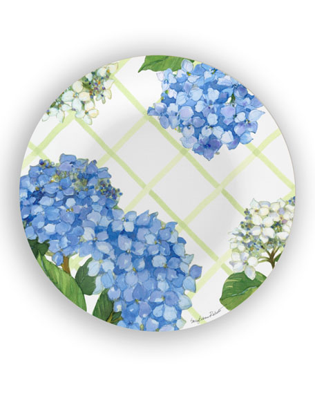 Bamboo Table Hydrangea Lattice Shatter-Resistant Bamboo Dinner