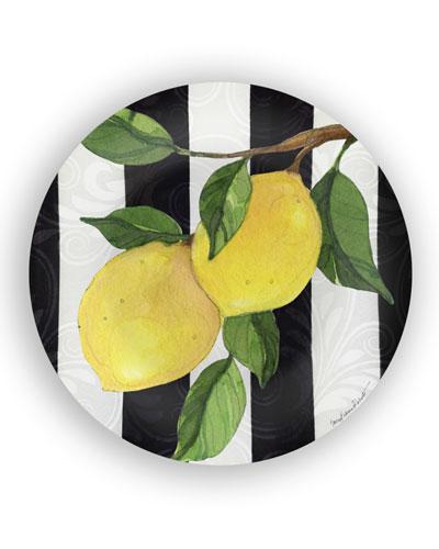 Lemon Branch Shatter-Resistant Bamboo Dinner Plates  Set of 4