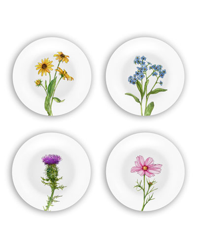Wildflowers Plates Gift Set