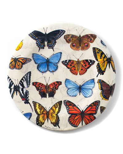 Field Guide Butterflies Shatter-Resistant Bamboo Dinner Plates  Set of 4