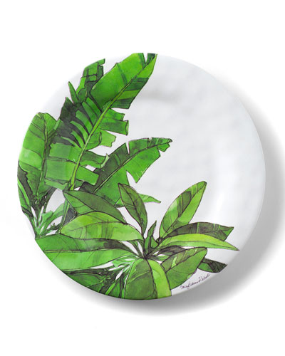 Flamingo Tropics Shatter-Resistant Bamboo Salad Plates  Set of 4