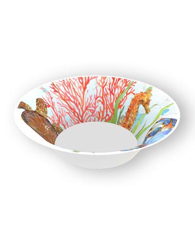 Ocean Shatter-Resistant Bamboo Cereal Bowls  Set of 4