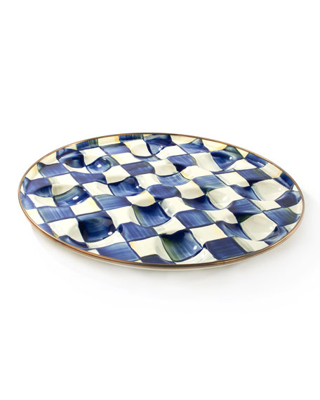 Royal Check Egg Plate