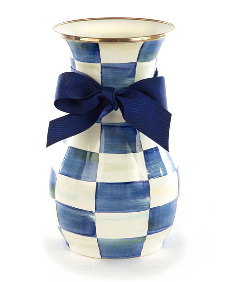 MacKenzie-Childs Royal Check Tall Vase