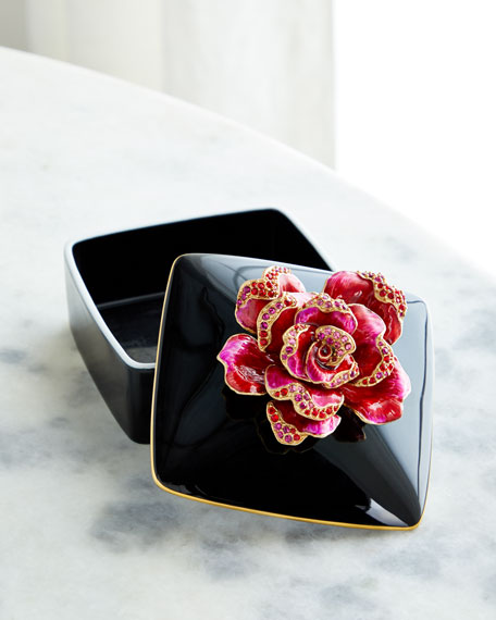 Jay Strongwater Rose Porcelain Box