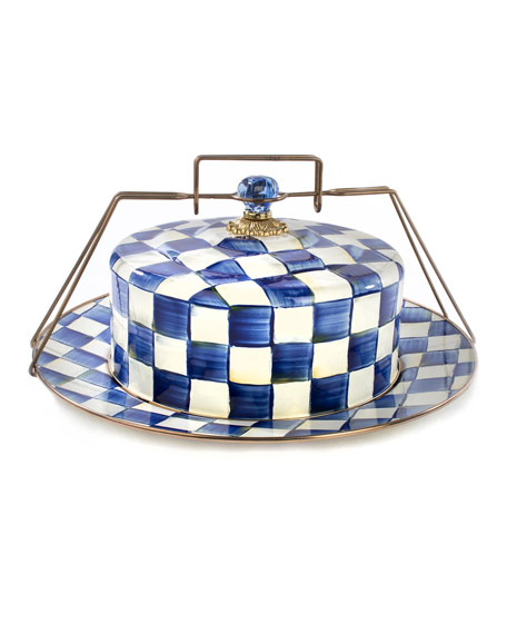 MacKenzie-Childs Royal Check Cake Carrier