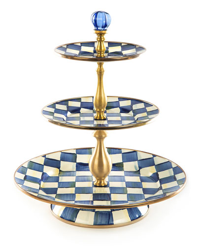 Royal Check 3-Tier Sweet Stand